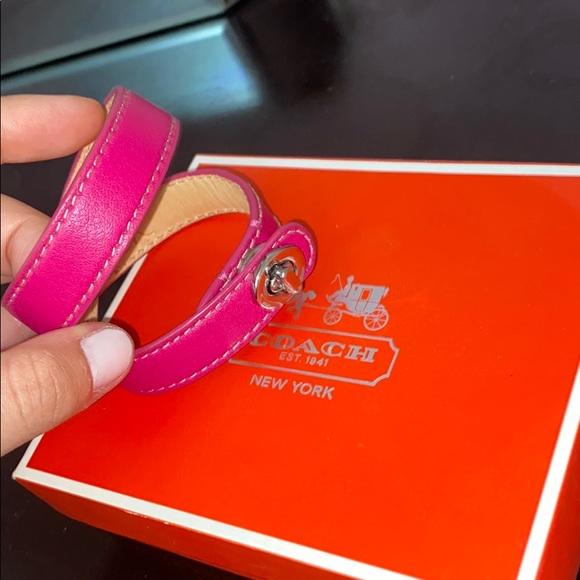 Coach Pink Iconic Double Wrap Bracelet w/Box& Bag